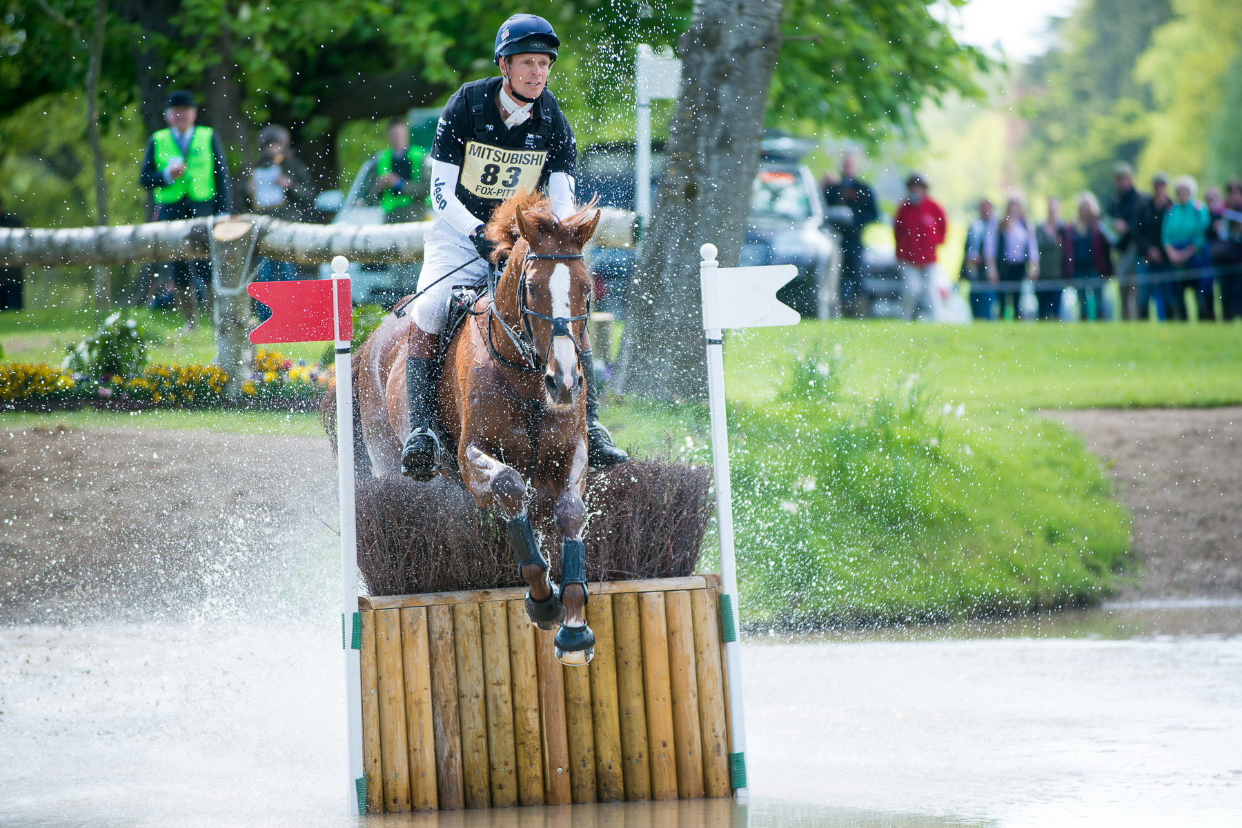 William Fox-Pitt (GBR) & Chilli Morning - Cross Country - Mitsubishi Motors Badminton Horse Trials - CCI4* - Badminton, Gloucestershire, United Kingdom - 09 May 2015