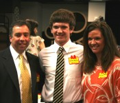 Child Ambassador Steven Henry (center)  with parents Sean (left) and Tracy (right) Henry (